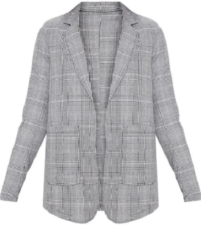 TALL GREY CHECKED BLAZER