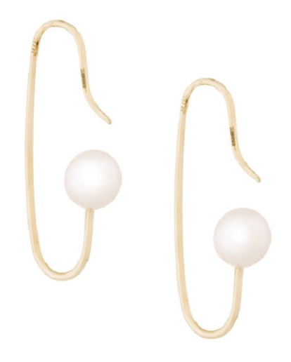 NATASHA SCHWEITZER Mini Marion pearl earrings