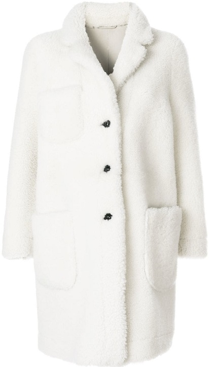 THOM BROWNE Reversible Dyed Shearling Sack Overcoat