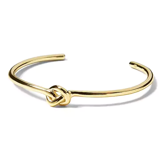 Everyday Luxuries 14k Gold-Plated Knot Cuff