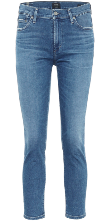 Rocket Crop mid-rise skinny jeans