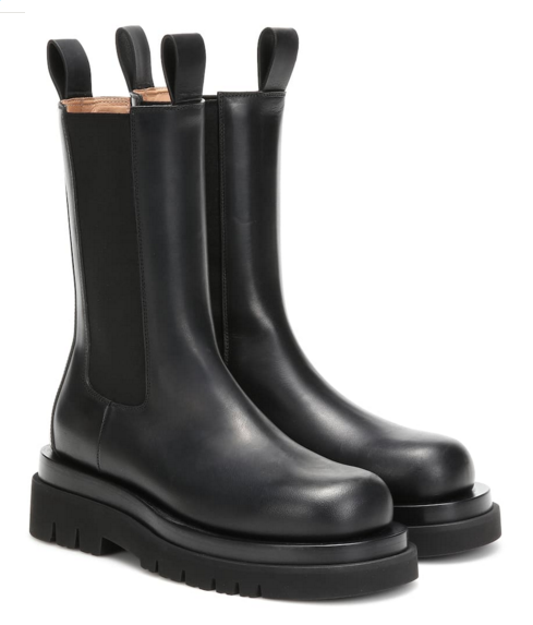BV Lug leather ankle boots