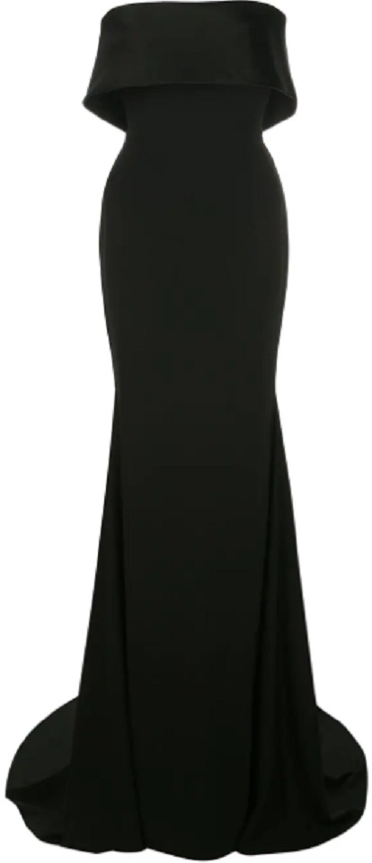 ALEX PERRY folded top evening dress