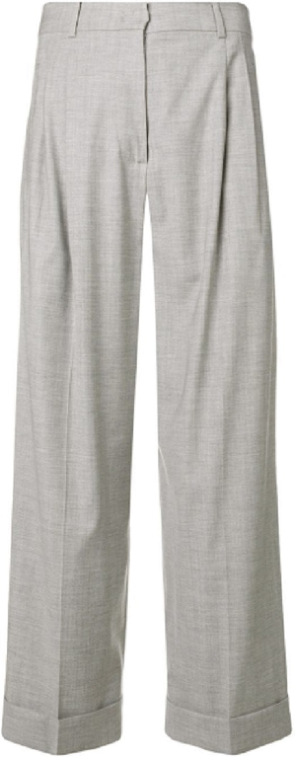 MAX MARA STUDIO cropped high waisted trousers