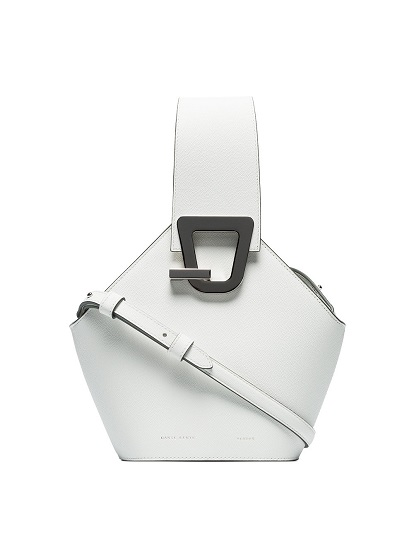 DANSE LENTE white johnny mini leather shoulder bag