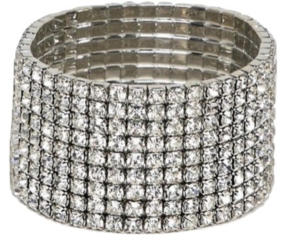 DesignB London crystal stretch bracelet