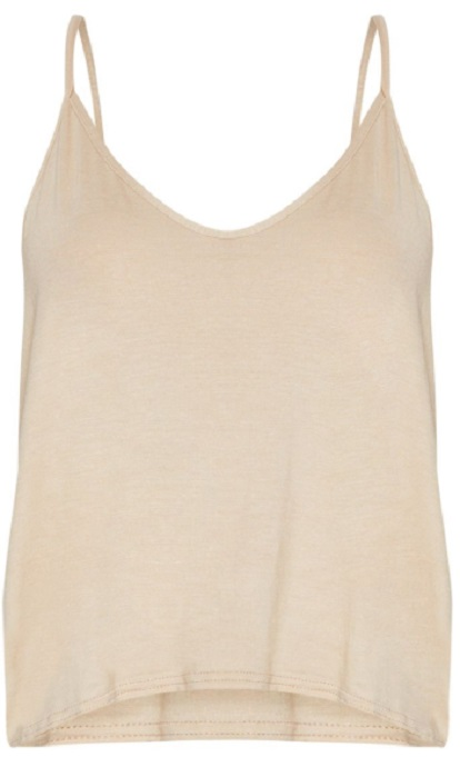 BASIC STONE JERSEY V NECK SWING VEST