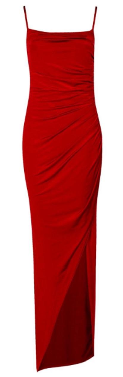 Strappy Square Neck Wrap Maxi Dress