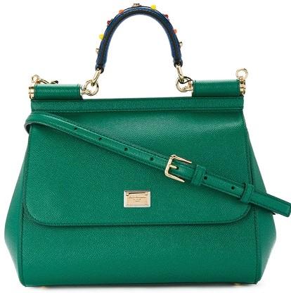 DOLCE & GABBANA Sicily handbag with handle embroidery