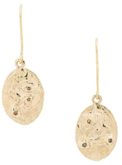 ELLIS MHAIRI CAMERON 14kt gold XXXII earrings