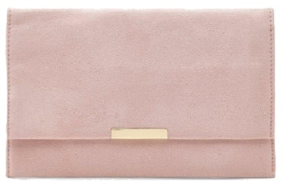 Suedette & Bar Clutch