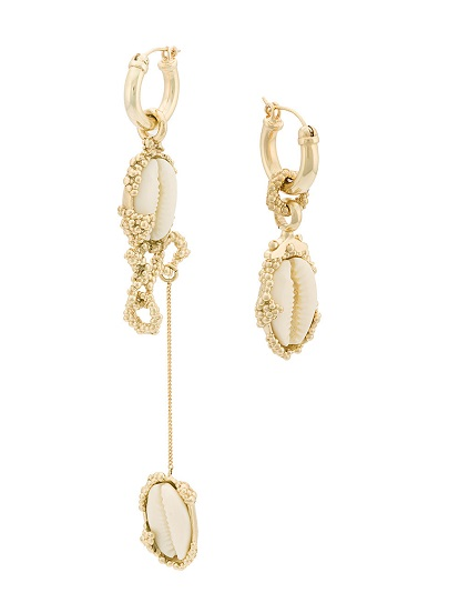 ELLERY drop shell earrings