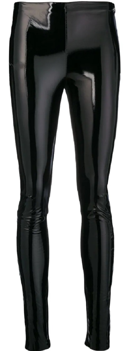 KARL LAGERFELD faux patent leggings