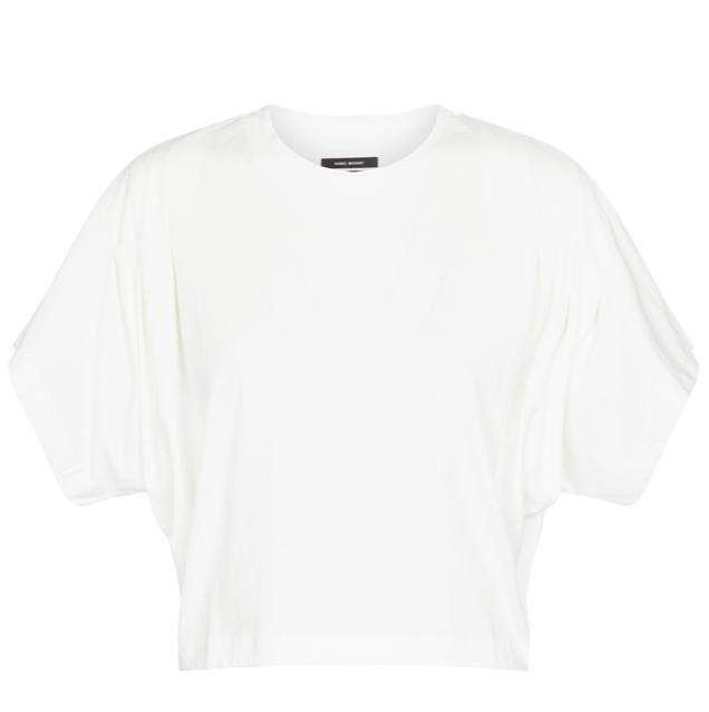 Zinalia cropped cotton T-shirt