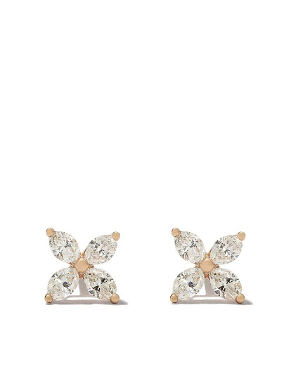 TIFFANY & CO 18kt rose gold Tiffany Victoria diamond small stud earrings