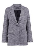 Check Wool Look Blazer Coat