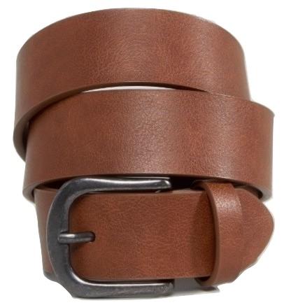 ASOS DESIGN vintage tan jeans belt in water based pu
