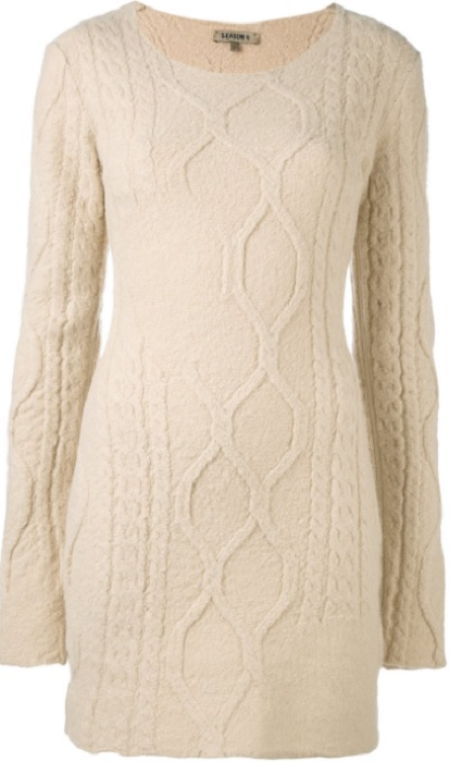 YEEZY long-sleeved knitted dress