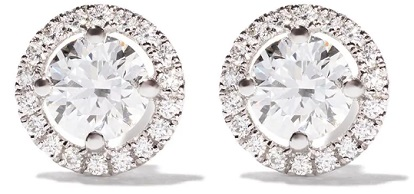 DE BEERS 18kt white gold My First De Beers Aura diamond stud earrings