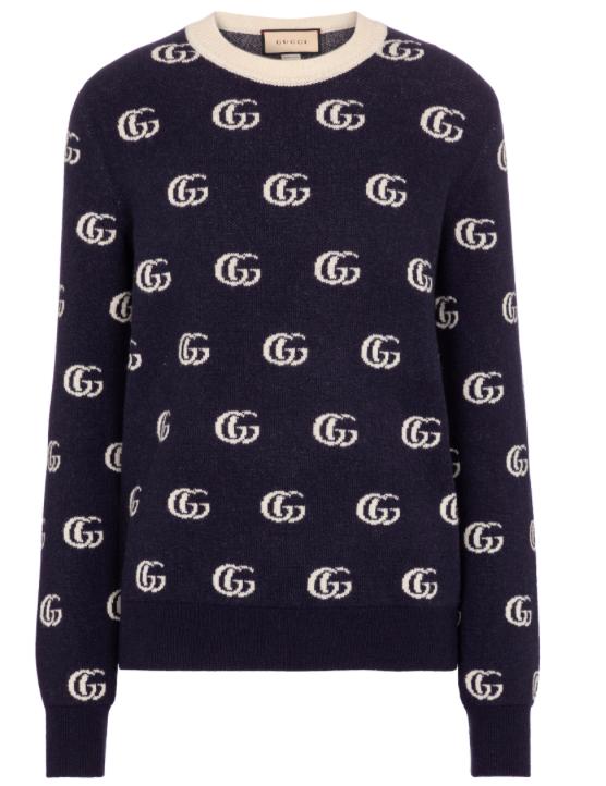 GG wool jacquard sweater