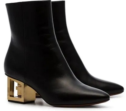 GIVENCHY black Triangle 60 leather ankle boots