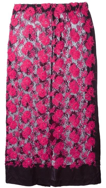 COMME DES GARÇONS VINTAGE sheer knit lace skirt