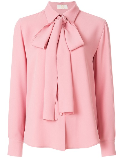 SARA BATTAGLIA bow tie blouse