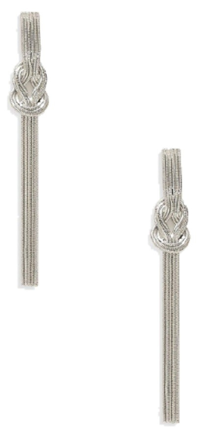 Knot Slinky Chain Earrings