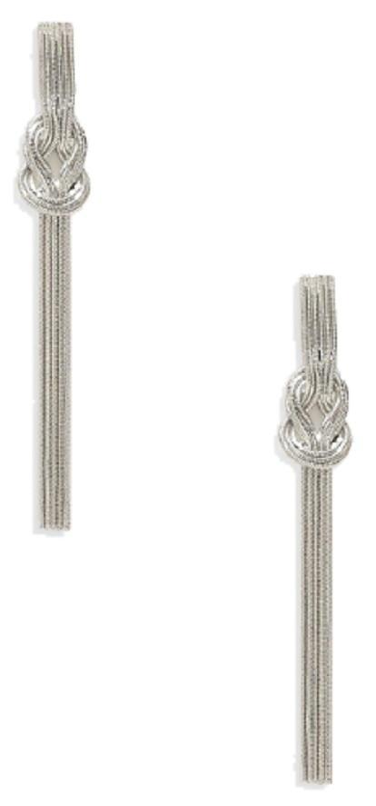 Knot Slinky Chain Earrings