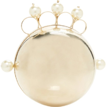 Click Product to Zoom Rosantica Minnie Gold-Tone Faux Pearl-Embellished Clutch