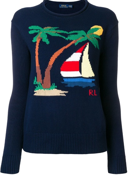 POLO RALPH LAUREN nautical motif sweater