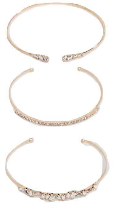 ALDO Gold Embellished Multipack Bracelets