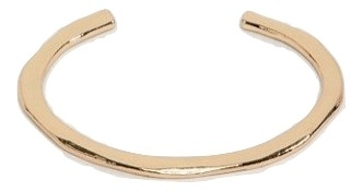 ASOS DESIGN cuff bracelet with minimal detail in gold