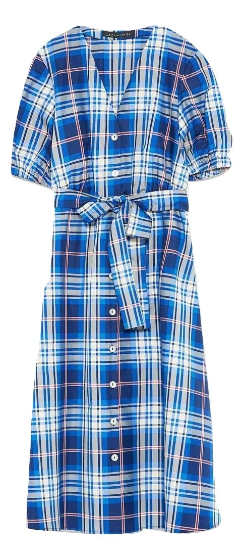 PLAID TAFFETA DRESS