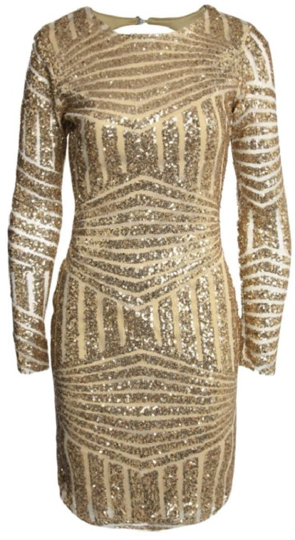 Boutique Sequin Open Back Bodycon Dress