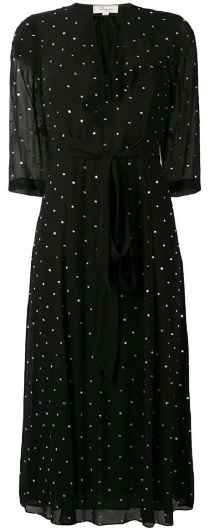 TEMPERLEY LONDON polka dot midi dress