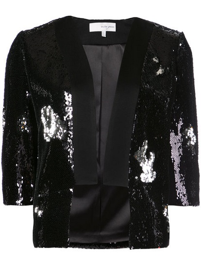 GALVAN sequin embellished cropped blazer