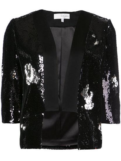GALVAN sequin embellished cropped blazer