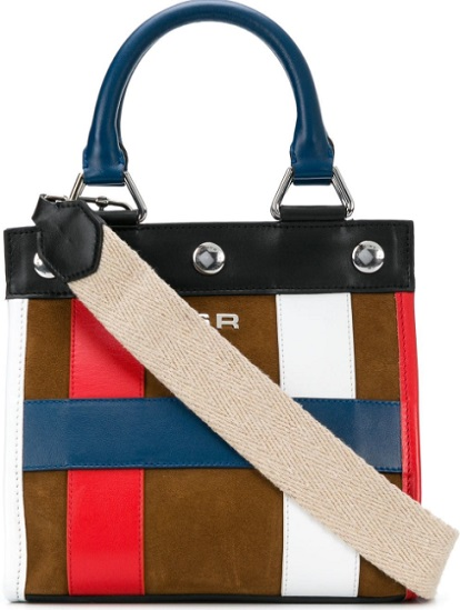 SONIA RYKIEL small colour block tote